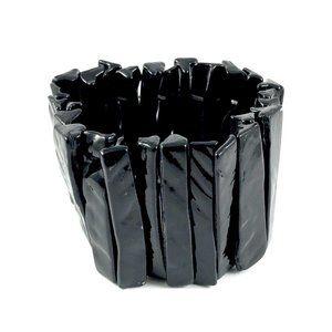 Stunning Black Abalone Shell Statement Bracelet